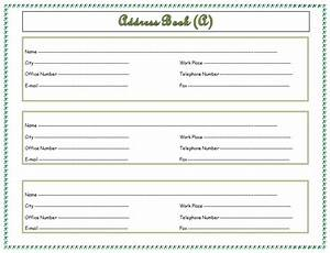 address book template record your important addresses With addressable template