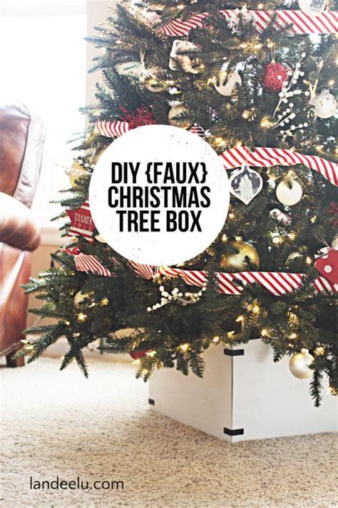 building a xmas tree box diy faux tree box landeelu
