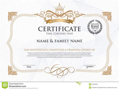 certificate design certificate design template stock vector illustration of certificate gold 55469929