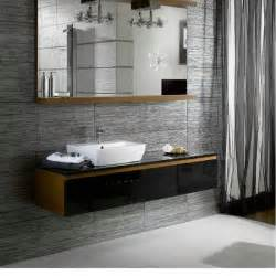 metallic chrome silver effect bathroom wall and floor