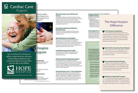 hope hospice brochure current creative group