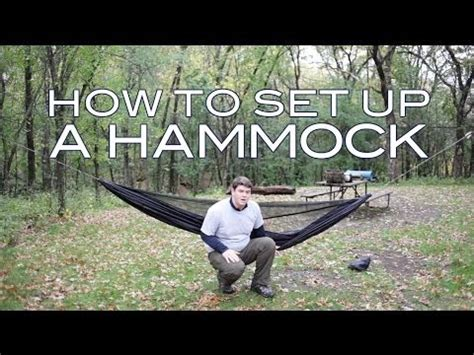 How To Put A Hammock Up by How To Set Up A Cing Hammock