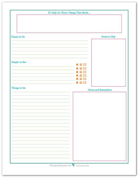 planner printables reader request