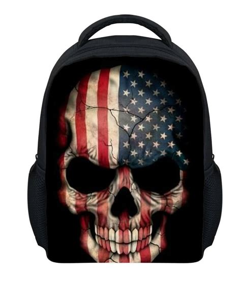 skull backpack preschool boy school bag mini 878 | s l1000
