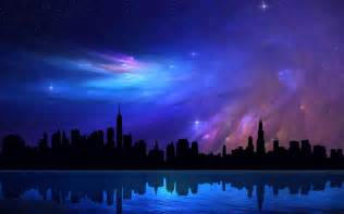 hd chicago skyscrapers sky abstraction reflection beautiful dreamy nebula wallpaper