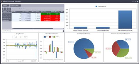 excel financial investment tools