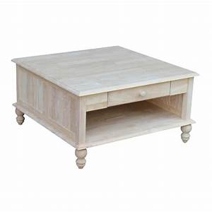 international concepts cottage unfinished square coffee With square cottage coffee table