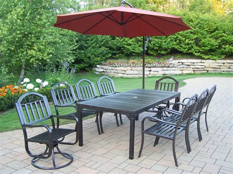Oakland Living Rochester Wrought Iron 10 Pc Dining Set. Outdoor Furniture Sale In Melbourne. Great Deals On Patio Furniture Sets. Porch Swing Hardware Heavy Duty. Patio Table Cover Uk. How To Build A Patio Cover With A Corrugated Metal Roof. Rattan Furniture Uk Tesco. Craigslist Gulfport Patio Furniture. Hawthorne 3-piece Metal Patio Bistro Furniture Set