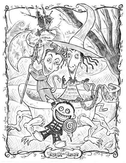 nightmare  christmas coloring page xpx