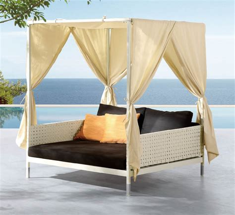 deluxe patio swing daybed with canopy wooden global