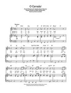 o canada canadian national anthem sheet music by calixa