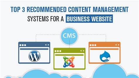 top 3 recommended content management systems for a