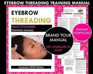 Eyebrow Threading Training Manual Guide Course Learn