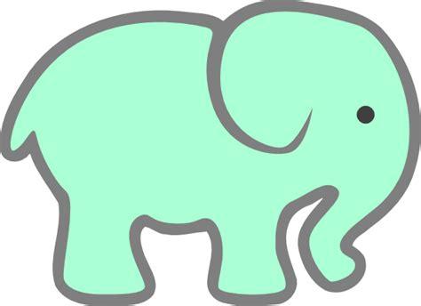 green baby elephant clip art  clkercom vector clip