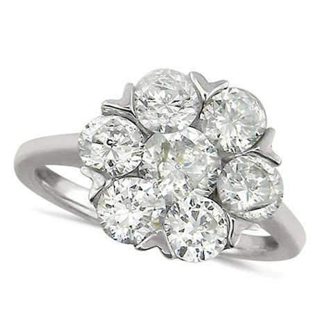 stone diamond rings stone flower shaped diamond