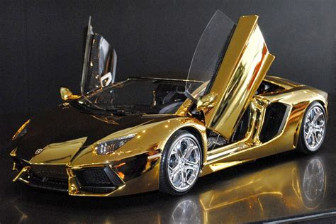 gold glitter car a solid gold lamborghini and 6 other supercars new york post