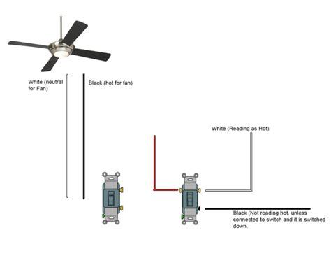 Ceiling Fan Light Switch Wiring Diagram Single by Electrical Adding A Ceiling Fan Single Switch In A Box