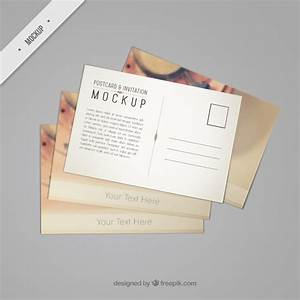 Beautiful postcard mockup with a vintage phone psd file free download for Psd postcard template