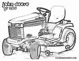 Coloring Pages Lawn Mower Deere Tractor John Garden Boys Template Cartoon Neo sketch template
