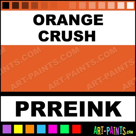 orange crush ink calligraphy ink paints and pigments for