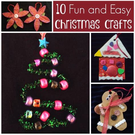 10 Easy Christmas Crafts For Kids  Happy Hooligans