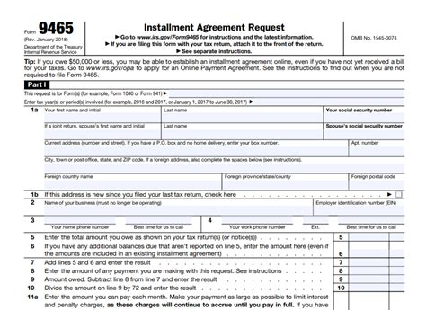 irs payment installment agreement form how to request for installment agreement with irs form 9465