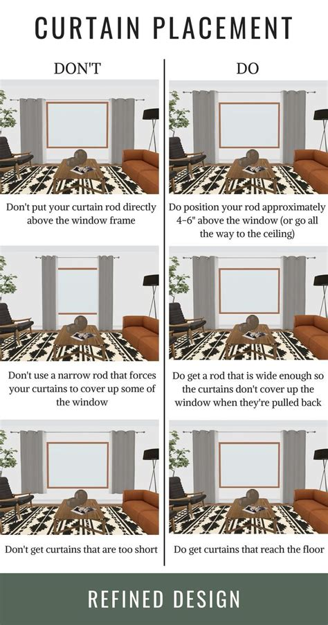 dos donts  curtain placement   home