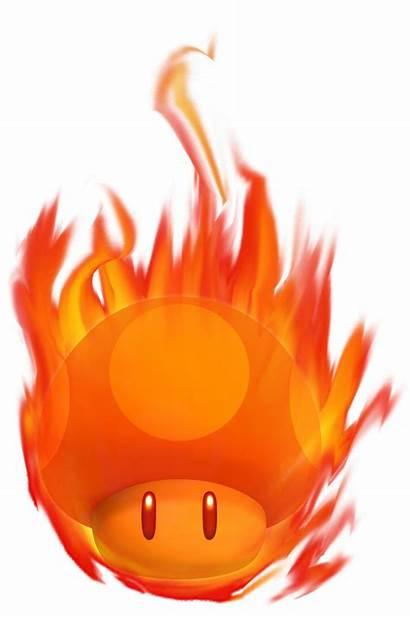 Mushroom Burning Mario Power Ups Bros Fantendo