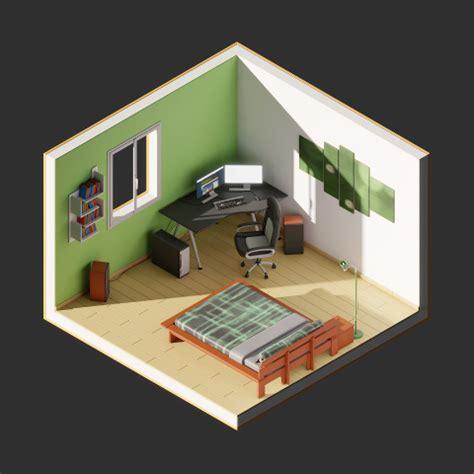 cr r sa chambre en 3d awesome chambre en perspective cavaliere images design