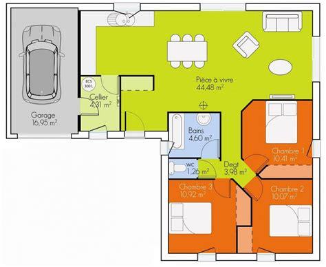 plan de maison plain pied 3 chambres gratuit free plan maison chambres plain pied with plan maison 5