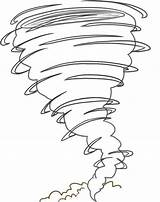 Tornado Coloring Pages sketch template