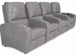 cosmos heather gray 4 seat power home theater sectional With heather grey sectional sofa