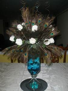Peacock Feather Centerpiece Raji Creations