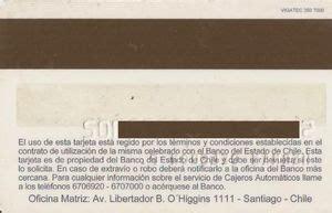 Bank Card: Banco del Estado de Chile (Banco del Estado de ...