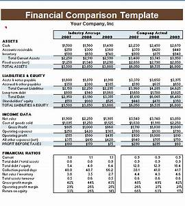 side by side comparison template excel - financial comparison template microsoft excel templates