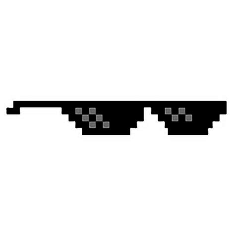 Meme Shades - pixel pixelated sunglasses dealwithit meme memes shades