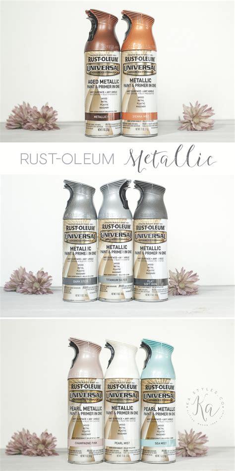 spray metallic rust oleum paint rustoleum paints colors samples copper krylon silver diy kastyles painting ka styles metal glitter silvers