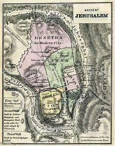 Map Of Ancient Jerusalem Stock Illustration