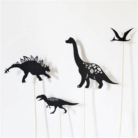 dinosaurs shadow puppet set 8 puppets adventure in a box