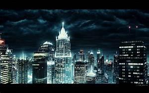 Futuristic night city - MattePainting.Org
