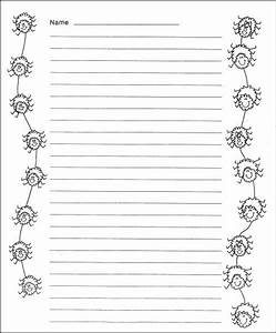 Spider Web Writing Paper Template Free