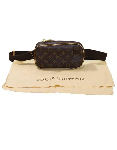 louis vuitton monogram canvas pochette gange body bag belt bag fanny pack  stdibs