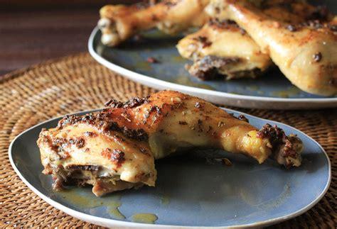chicken leg quarter recipes garlic roasted chicken leg quarters recipe