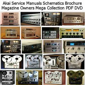 Akai Service Manuals Schematics Brochure Magazine Owners