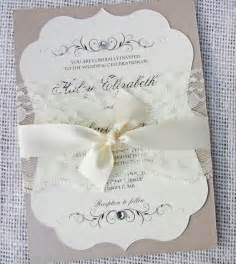 lace wedding invitations vintage lace wedding invitation vintage wedding invitation classic wedding