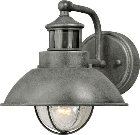 motion sensor outdoor wall light vaxcel t0253 harwich dualux textured gray exterior motion