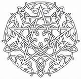 Coloring Pages Pentagram Wiccan Pentacle Celtic Fire Embroidery Water Earth Designs Pagan Air Mandala Symbols Pattern Urbanthreads Spirit Wicca Colouring sketch template