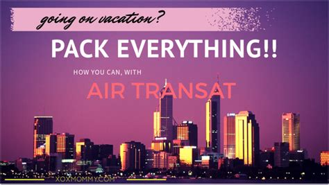 air transat option plus pack everything you need with option plus on air transat