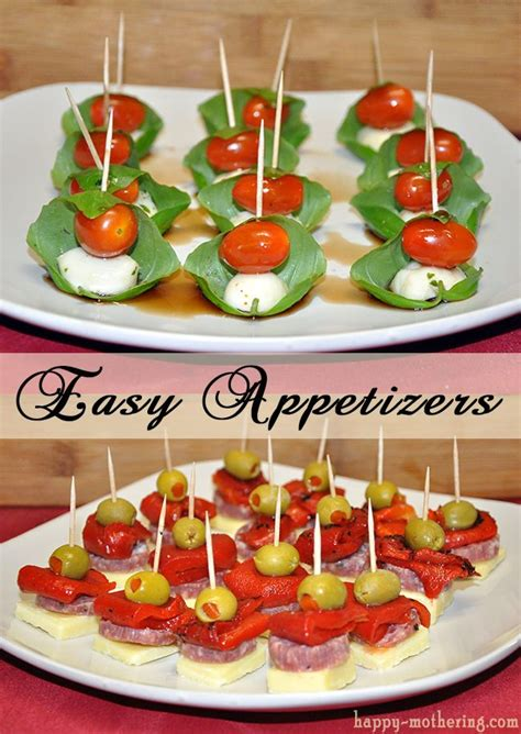 easy appetizers caprese and antipasto skewers spa