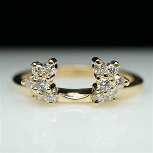 vintage estate 27ct diamond engagement ring enhancer With ring enhancer wedding band